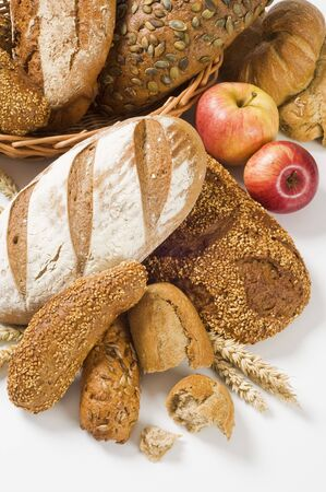 Various types of brown bread   photo