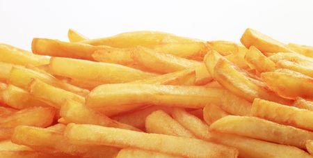 frites: Freshly fried French fries  Stock Photo