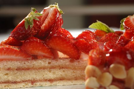 Strawberry Cake - detail Stock Photo - 5617672