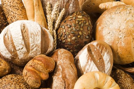 Variety of baked products  Stock Photo