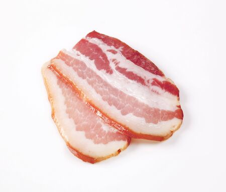 cured: Slices of cured bacon