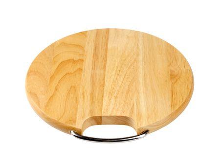 Round wooden cutting board  photo