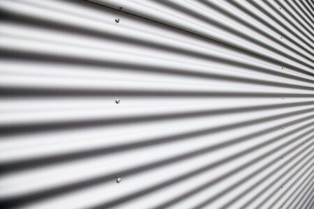 Corrugated metal sheet photo