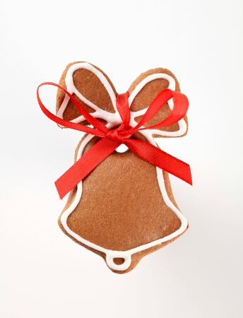Gingerbread cookie in the shape of a bell photo