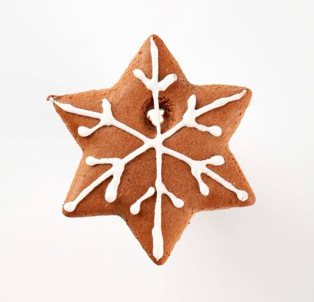 Gingerbread in the shape of a snowflake photo