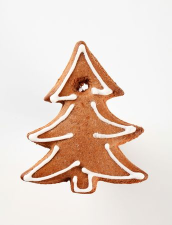 gingerbread cookie: Gingerbread cookie in the shape of a tree