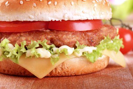 Detail of a Cheeseburger  photo