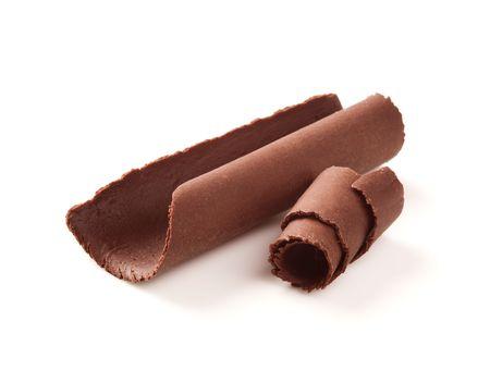 Two chocolate curls  photo
