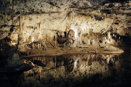subterranean: Speleothems in a subterranean cave