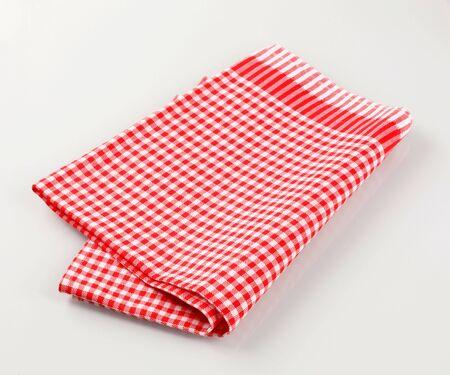 tea towel: Red and white checkered tea towel
