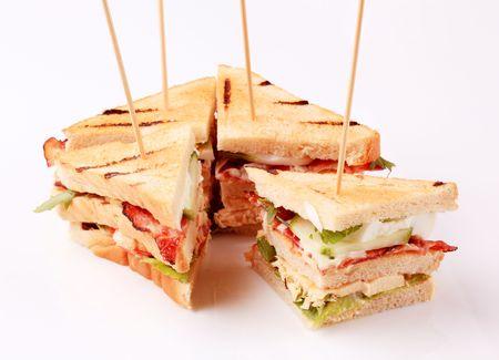 sandwich bread: Club sandwiches