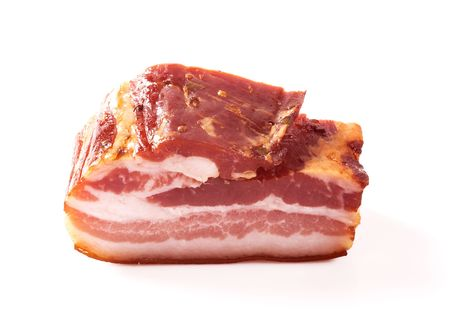 cured: Cured bacon