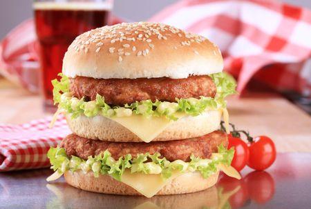 Double cheeseburger  photo