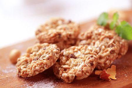 galletas: Cookies sanas  Foto de archivo