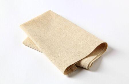 serviettes: Small folded napkin