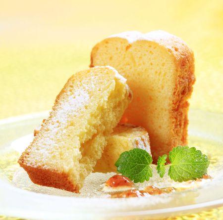 Slices of pound cake
