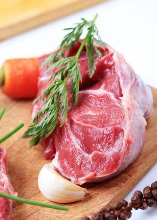 shin: Raw shin beef