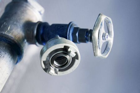 Detail of a water valve  Stock Photo