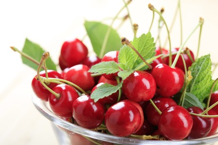 bing: Red cherries Stock Photo