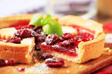 Mürbeteig-Kuchen mit Frucht Füllung - detail