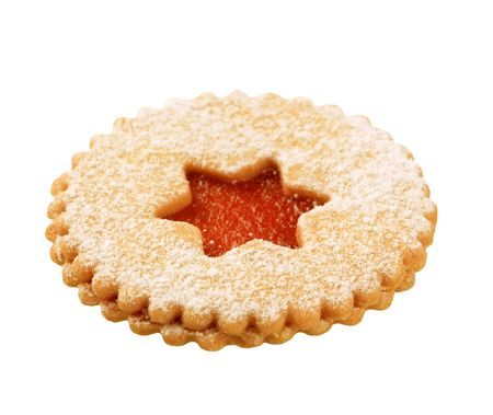 teacake: Shortbread cookie with jam filling - cutout