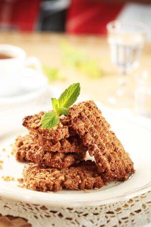 nutty: Wholegrain nutty cookies