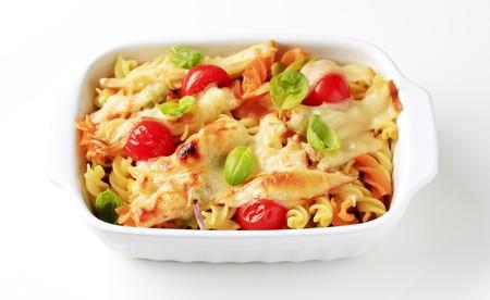 au: Tricolor pasta au gratin  Stock Photo