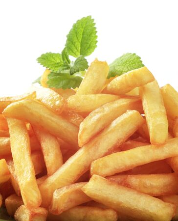 accompaniment: Heap of freshly fried French fries