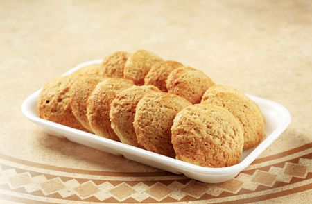 Rows of oatmeal cookies - still life Stock Photo - 8044009