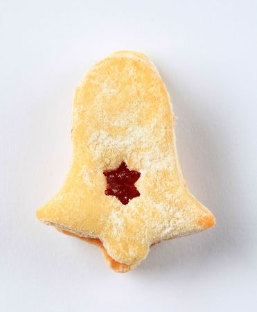 Bell shaped jam biscuit - studio shot Stock Photo - 8087454
