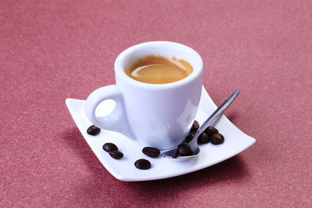 Cup of freshly prepared espresso - closeup Stock Photo - 8192340
