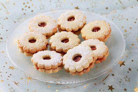 sucre glace: Confiture sabl�s cookies en poudre avec sucre � glacer