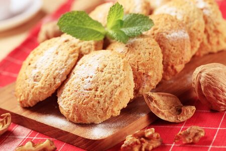Crispy cookies on a cutting board - closeup Stock Photo - 8468607