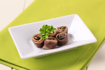 alcaparras: Acumulados de filetes de anchoa llenados de alcaparras