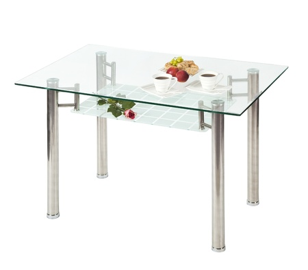 tavolo da pranzo: Top tavolo rettangolare di vetro - isolato
