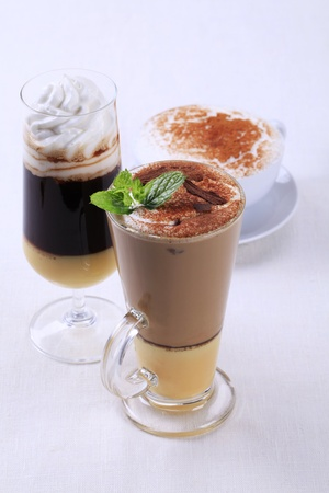 Coffee and chocolate drinks - still life photo