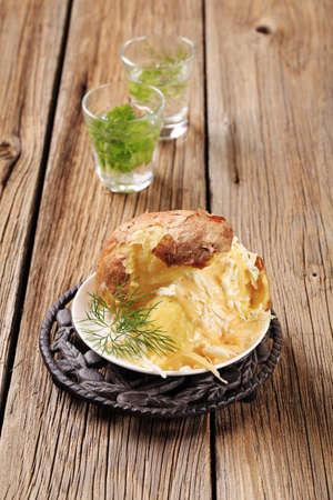 Baked potato with two kinds of cheese Stock Photo - 9148667