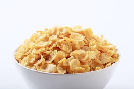 corn flakes: Bol de croustillants corn flakes - d�tail Banque d'images