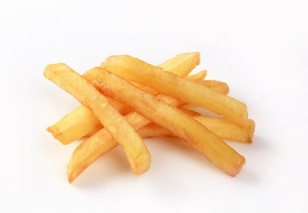 pomme: Heap of French fries - studio shot Stock Photo