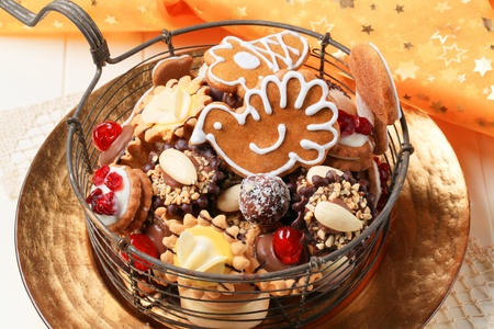 Variety of Christmas cookies and tartlets - detail Stock Photo - 10723839