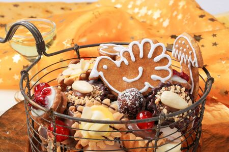 Variety of Christmas cookies and tartlets - detail Stock Photo - 11012703