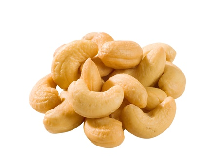 Heap of roasted cashew nuts