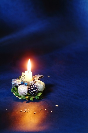Decorated Christmas candle photo