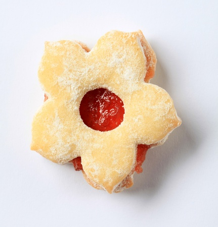 Jam filled cookie dusted with icing sugar Stock Photo - 11108060