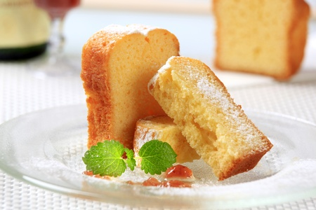 Sweet breakfast - Slices of pound cake  photo