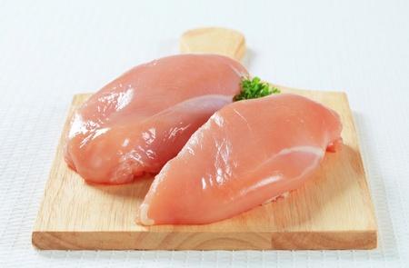 Fresh skinless chicken breast fillets