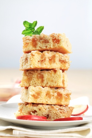 Pieces of apple crumb cake Stock Photo - 11763691