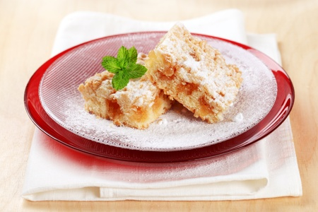 Pieces of apple crumb cake Stock Photo - 11763681