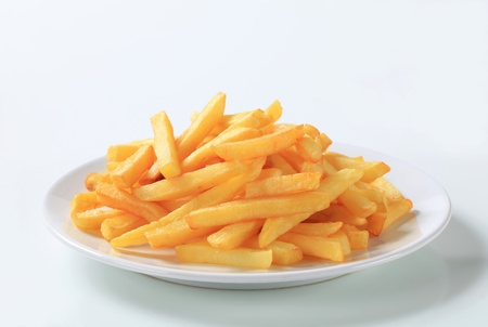 fries: Serving of French fries on a plate