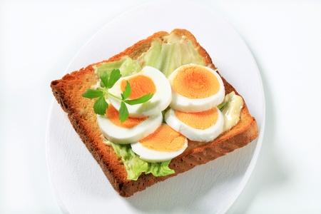 faced: Open faced egg sandwich - studio